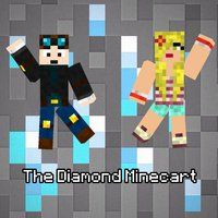 Me and dan dancing in front of diamond ore!! I love fan art! Thanks for sending them to us!