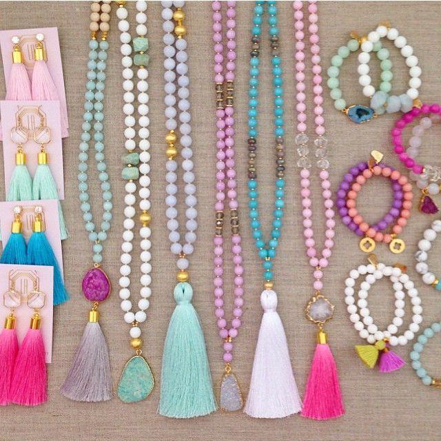 Instagram : @lovesaffect #lovesaffect #necklaces #bracelets #earrings #tassel…
