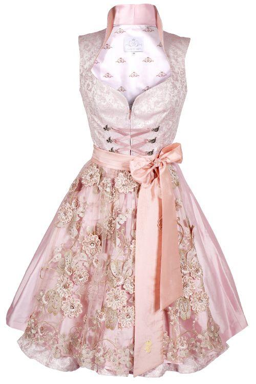 Hochzeitsdirndl Sweet Love rosa von Astrid Söll