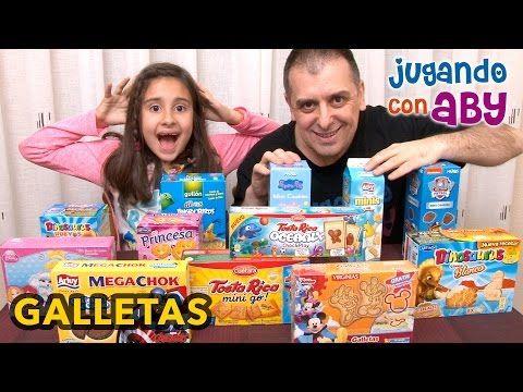 Galletas de DIBUJOS ANIMADOS. Probamos 12 CAJAS de galletas. - YouTube