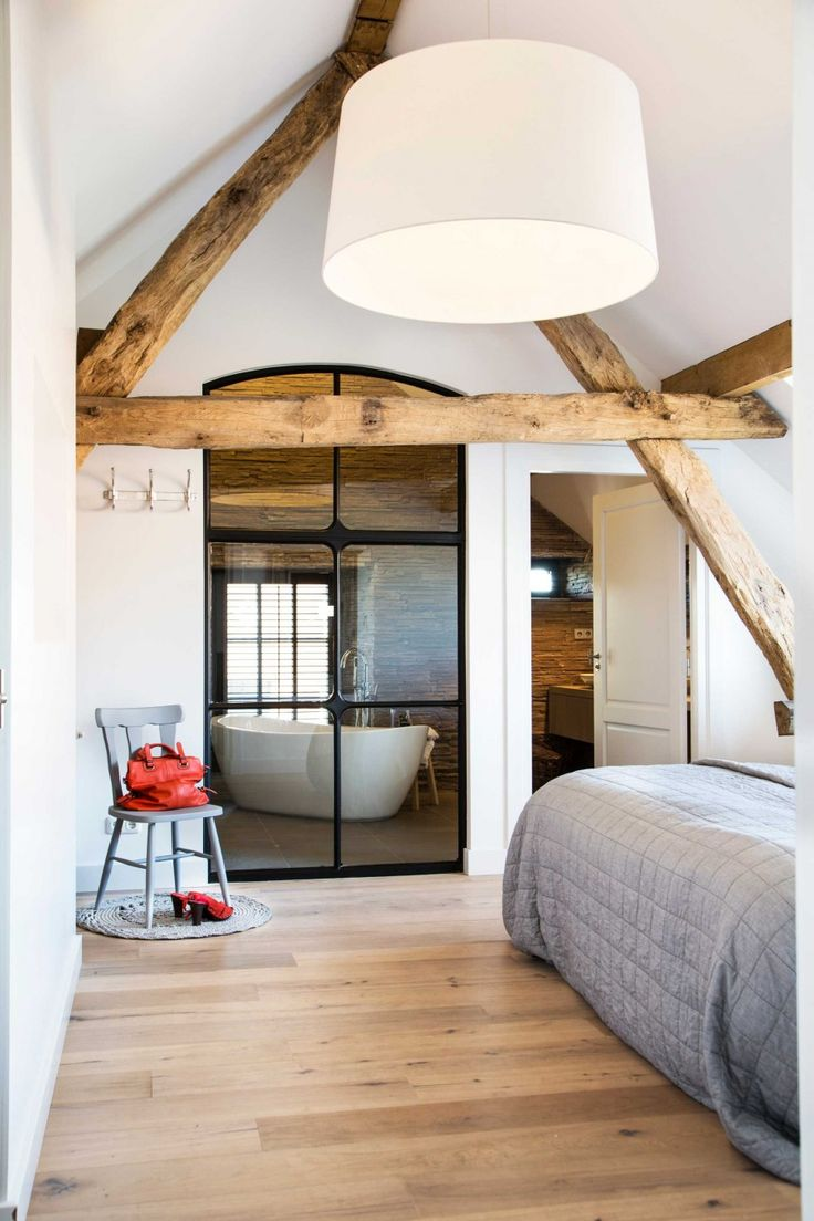 slaapkamer-bed-glas-bad