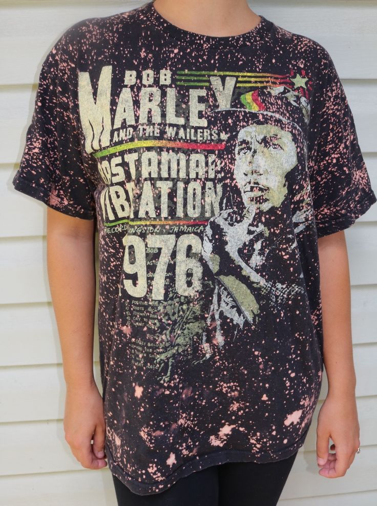 Edgy and cool hand bleached Bob Marley shirt. Looks super good on a guy or a girl! Could be tucked in or tied for the perfect 90s look. If you love edgy, unique and one of a kind shirts check out our other listings! Get this on depop now!