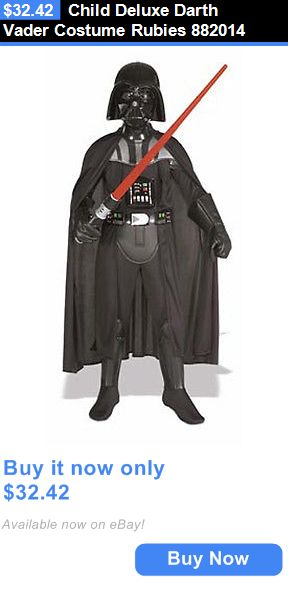 Halloween Costumes: Child Deluxe Darth Vader Costume Rubies 882014 BUY IT NOW ONLY: $32.42