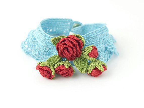 Check out this item in my Etsy shop https://www.etsy.com/listing/475632179/bracelet-bohemian-handmade-blue-crochet