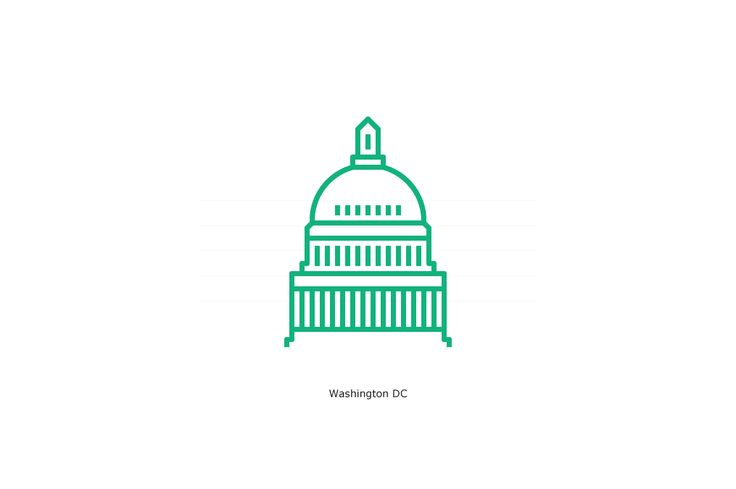 US State Capitols Icon Set by bhj on @creativemarket