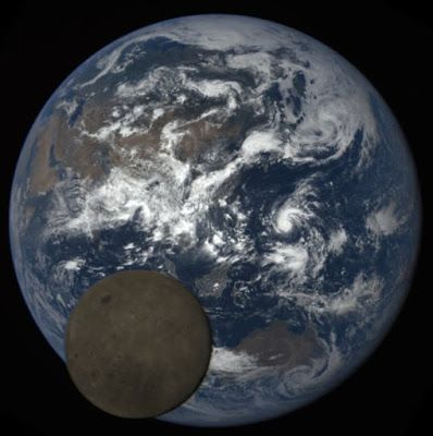 On July 5, 2016, the moon passed between NOAA's DSCOVR satellite and Earth. NASA's EPIC camera aboard DSCOVR snapped these images over a period of about four hours. In this set, the far side of the moon, which is never seen from Earth, passes by. In the backdrop, Earth rotates, starting with the Australia and Pacific and gradually revealing Asia and Africa. Credit: NASA/NOAA