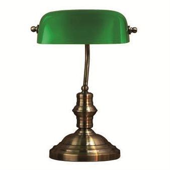 banker's green desk lamp <3