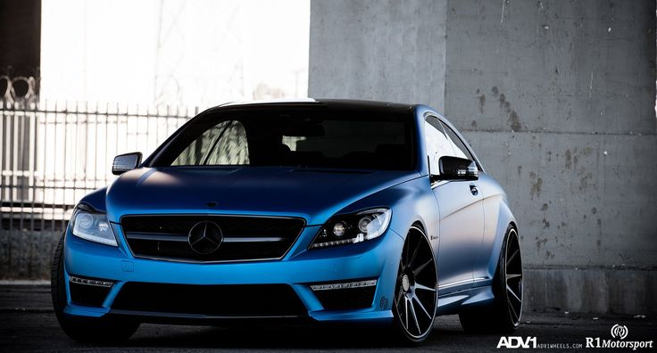 Gorgeous Satin Blue Mercedes CL63 AMG by ADV1