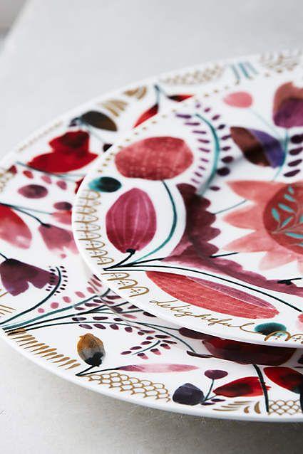 Harvest Foliage Dinner Plate Serving Platter (Alice and Wonderland) - anthropologie.com