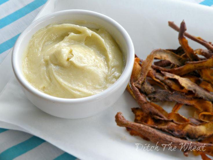 Homemade Aioli and Sweet Potato Skins