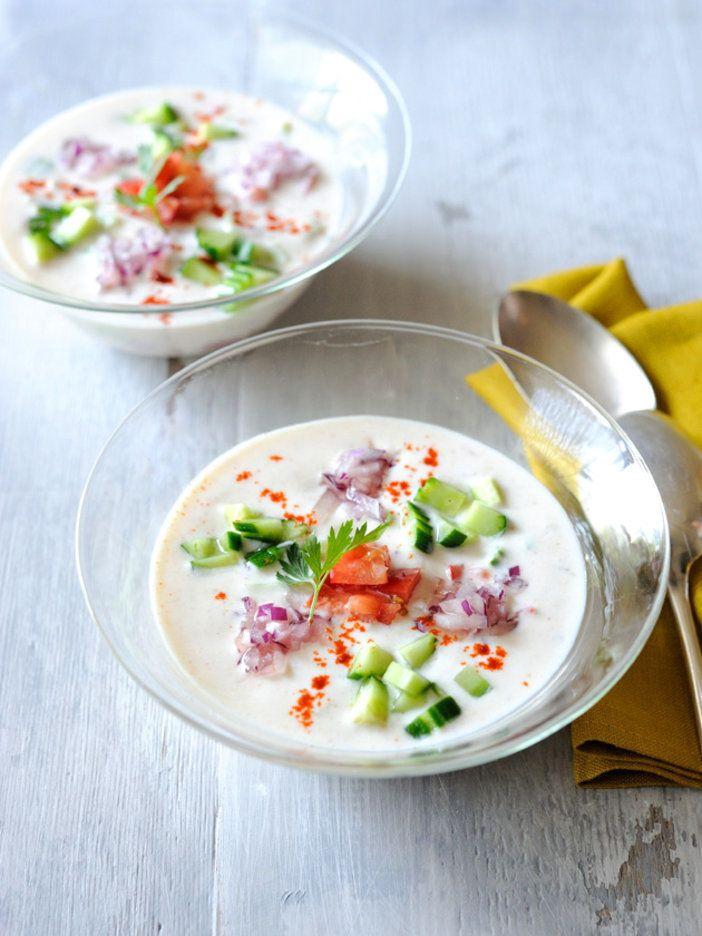 ヨーグルトを使ったインドでは定番の一品。プレゼン次第でおしゃれなおもてなし料理に。|『ELLE a table』はおしゃれで簡単なレシピが満載!