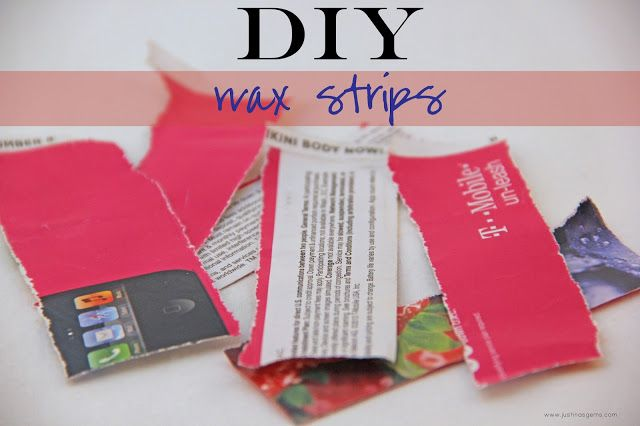DIY Wax Strips - tried this yesterday. Super easy, just cut up magazine covers & rip away!