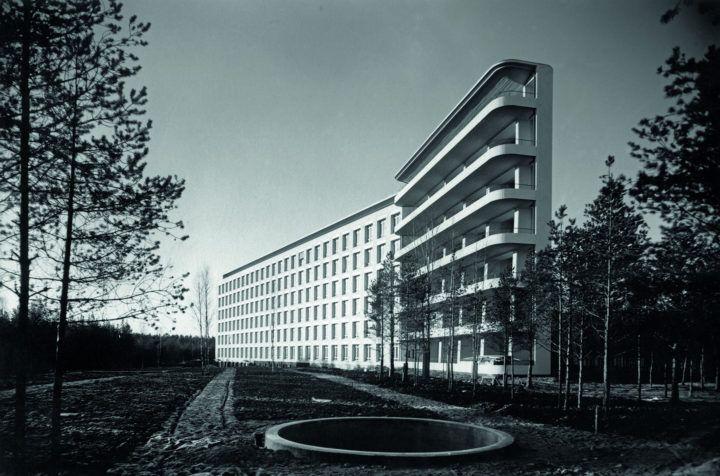 Paimion keuhkotautiparantola, Paimio, Suomi, Alvar Aalto, 1928-1933. © Alvar Aalto -säätiö. Kuva: Gustaf Welin / Alvar Aalto -museo