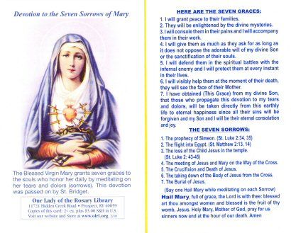 Devotion to the Seven Sorrows of Mary - lovely devotion with beautiful promises. Description from pinterest.com. I searched for this on bing.com/images