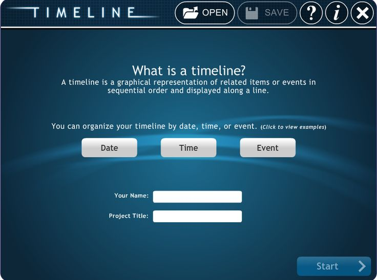 "An easy tool to create ""timelines"""