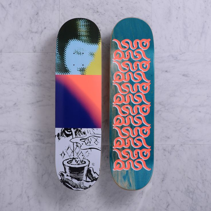 Quasi Skateboards Magiq [Two] deck blue 8.375 x 32.25