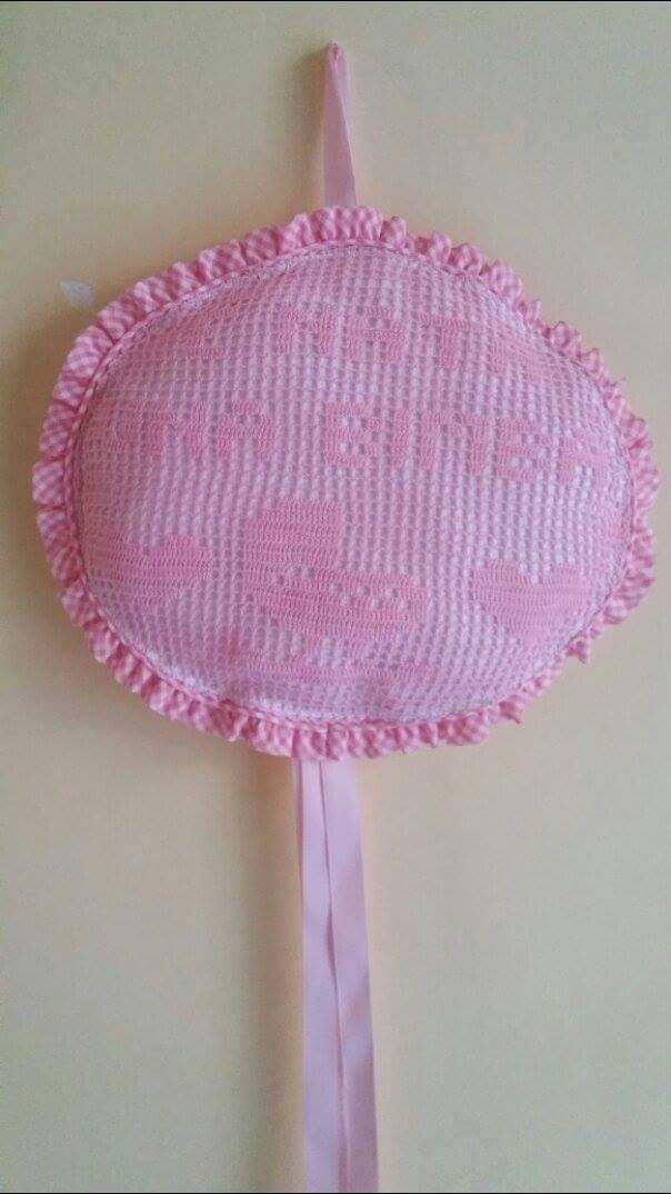 Fiocco nascita rosa a filet uncinetto è nata una bimba Fan su Facebook Lucia di…