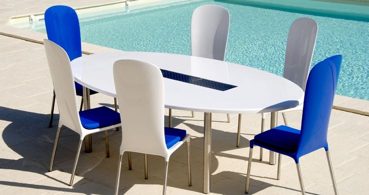 Table ovale 12 personnes blanc