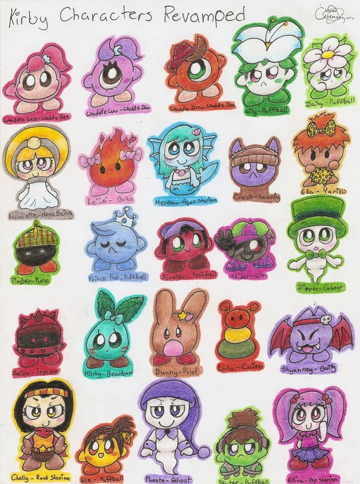 Kirby Characters Revamped by Chenanigans.deviantart.com on @DeviantArt