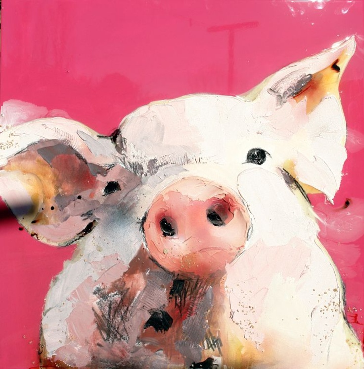 Would like a series of 3 (pig, chicken, cow?) for kitchen. Happy morning coffee greeting.
