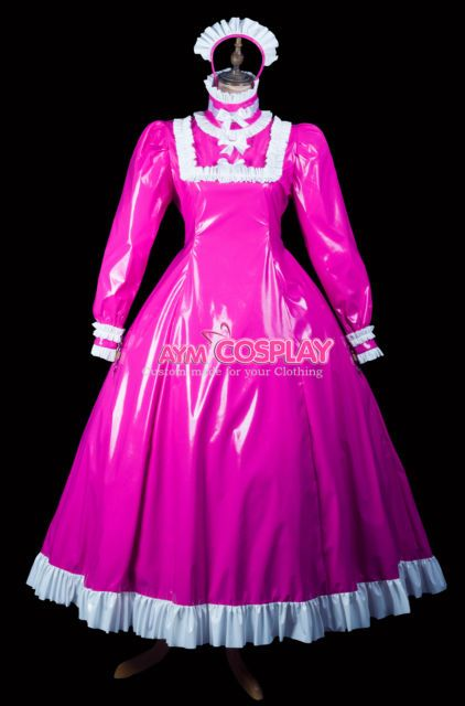 full-long lockable sissy maid heavier PVC Vinyl dress CD/TV Tailor-made[G2416] | eBay