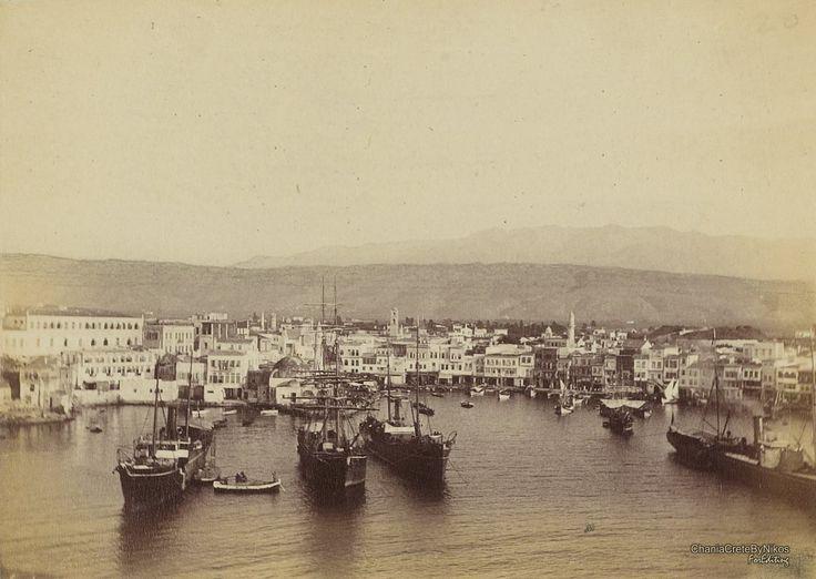 Chania port on 1890, Chania Crete, Greece