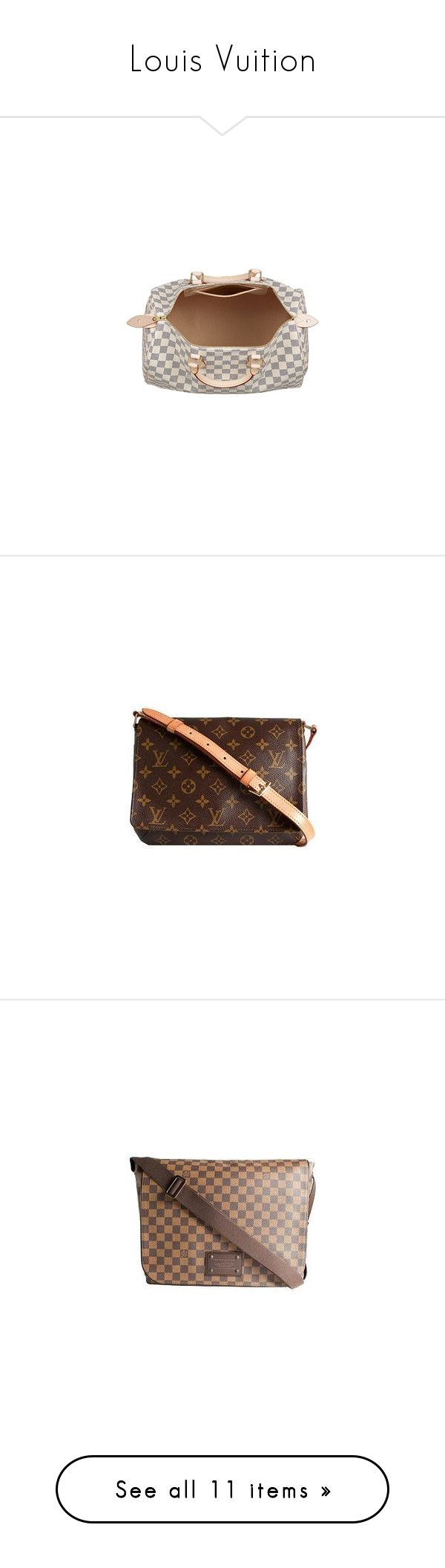 """Louis Vuition"" by shanplusthetice ❤ liked on Polyvore featuring bags, handbags, purses, louis vuitton, canvas handbags purses, canvas purses bags, brown bag, canvas man bag, purse bag and shoulder bags"