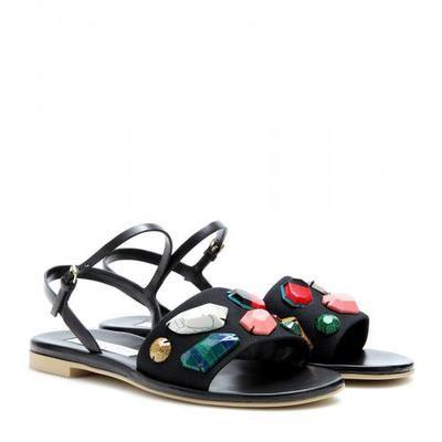 Stella McCartney - Embellished sandals #stellamccartneysandals #stellamccartney #women #designer #covetme