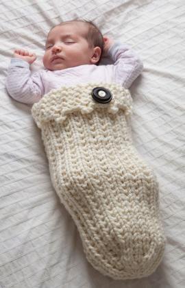 Ein Kuschelsack für Baby