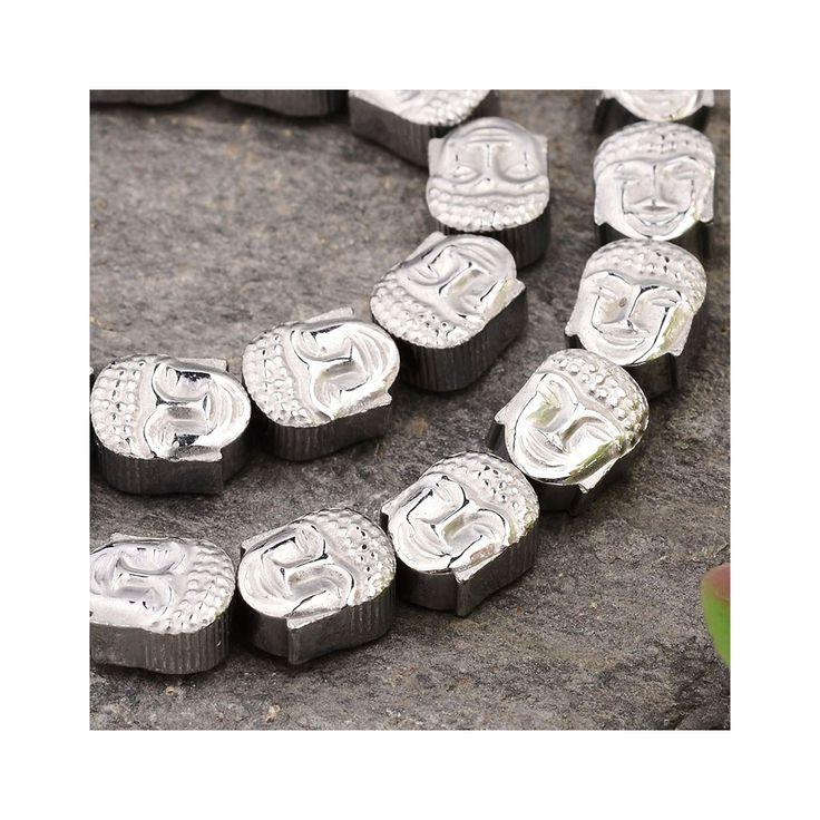 Perle en Hematite Tête de Bouddha 8.5x7x4 mm Labrador x1 - Perles & Co