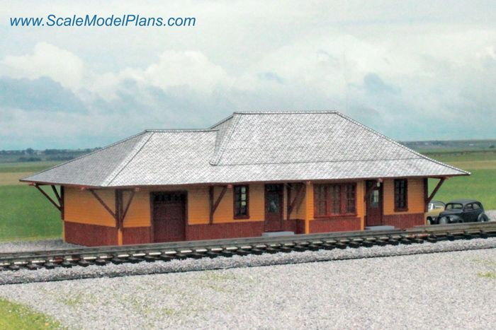 17 best images about ho scale o scale model railroad for Railroad depot plans