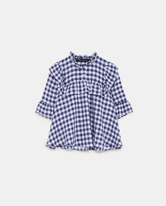 Image 6 of GINGHAM BLOUSE WITH RUFFLES from Zara