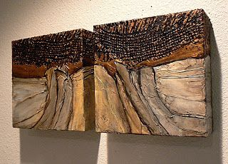 CAROL NELSON FINE ART BLOG: Stone Weave 1&2, abstract diptych