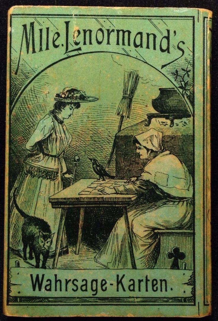 1880 German Lenormand Deck (Box Cover)