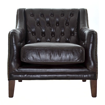 "Vintage Sofa Chair     Description  Chair height 19""    was $899.99 now $449.99   SKU 115195   30 inches wide x 33 inches long x 33 inches high"
