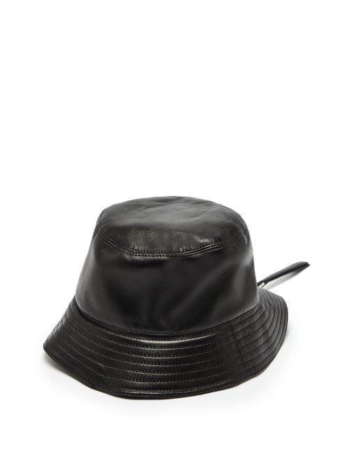 1669c3f2fa3 LOEWE LOEWE - LEATHER BUCKET HAT - MENS - BLACK.  loewe
