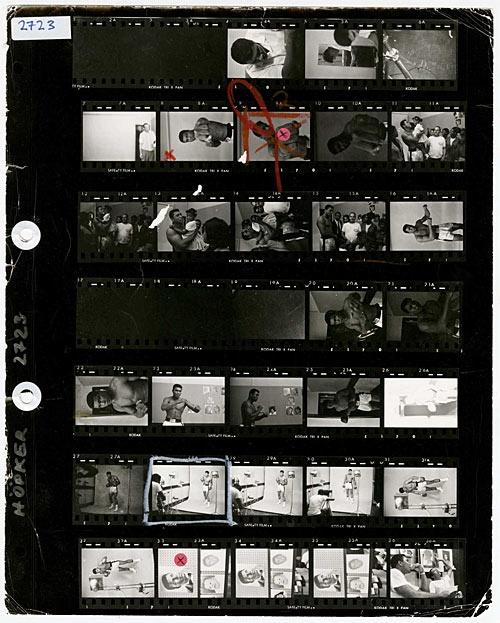 Magnum Photos Contact Sheet Print - Muhammad Ali by Thomas Hoepker