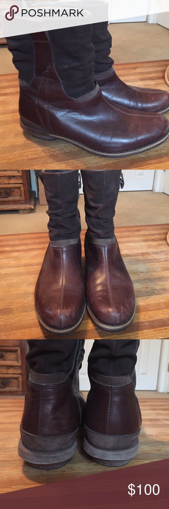 Patagonia leather boots. Brown leader with suede top. Nice condition. Patagonia Shoes Ankle Boots & Booties
