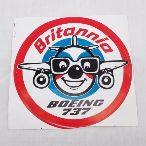 Good Condition Promotional Sticker Britannia Airways Boeing 737-1990s