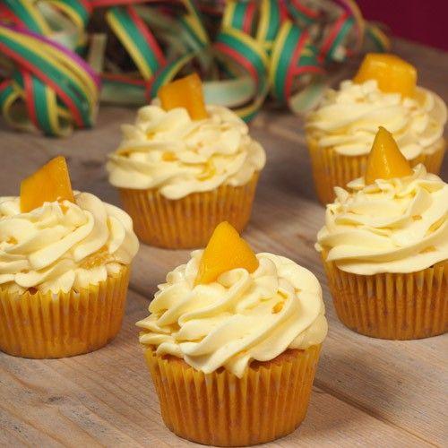 Tropische mango cupcakes