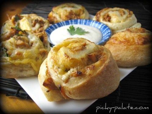 bbq ranch chicken and cheddar pizza roll em ups from picky palette