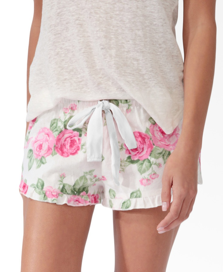 Scalloped Floral Pajama Shorts | FOREVER21 - 2030187097