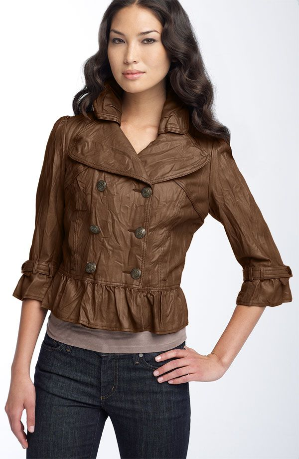 Leather Women Coat