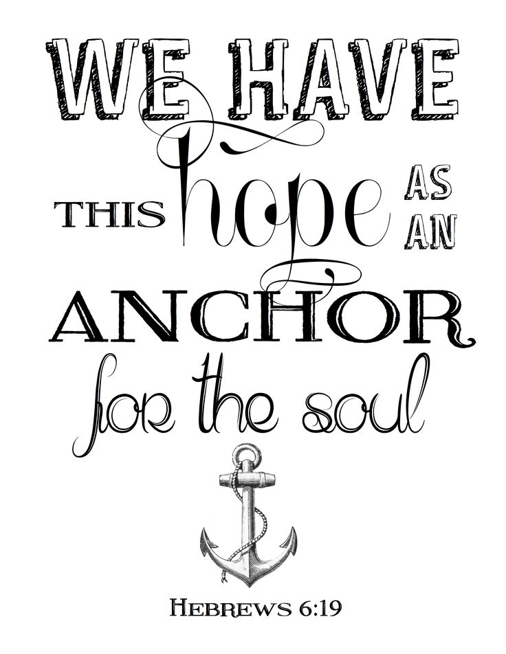 Free printable Bible verses artwork we have this hope as an anchor Hebrews 16:9 #ourtennesseehome