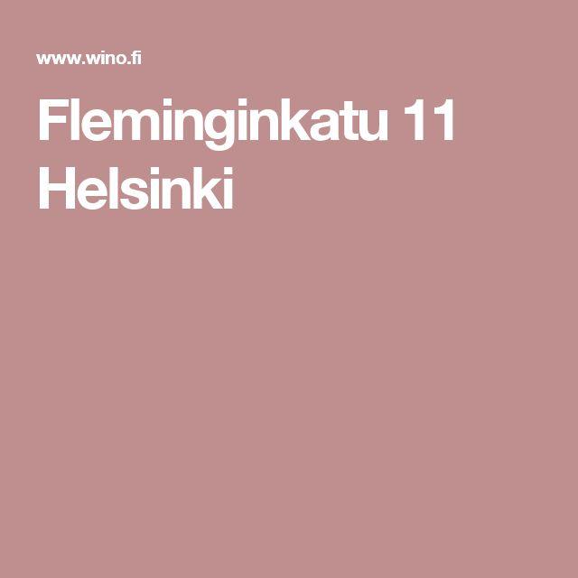 Fleminginkatu 11 Helsinki