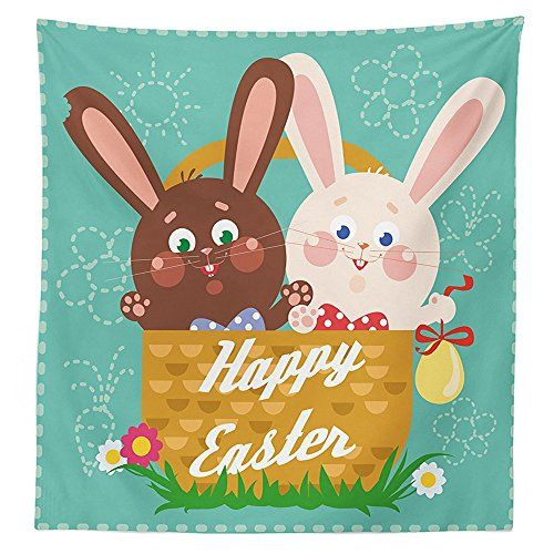 Best 25 easter tablecloth ideas on pinterest easter crafts for easter tablecloth funny rabbits inside a cup with balloons happy best gifts baby shower themed art negle Images