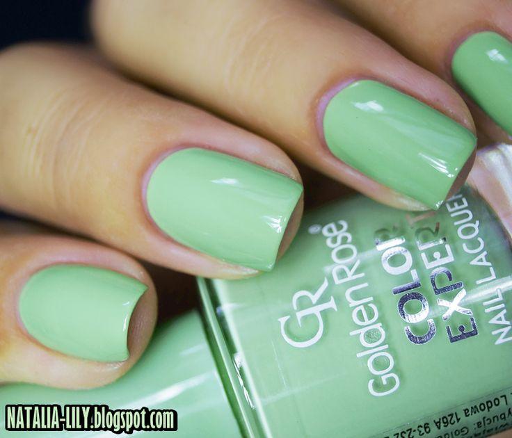 natalia-lily: Beauty Blog: GOLDEN ROSE COLOR EXPERT NR 46 | Przygaszona pastelowa zieleń