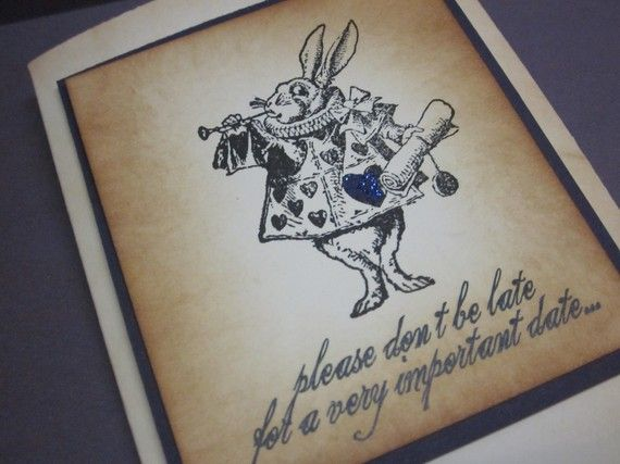 Alice in Wonderland invitations/White Rabbit by anistadesigns