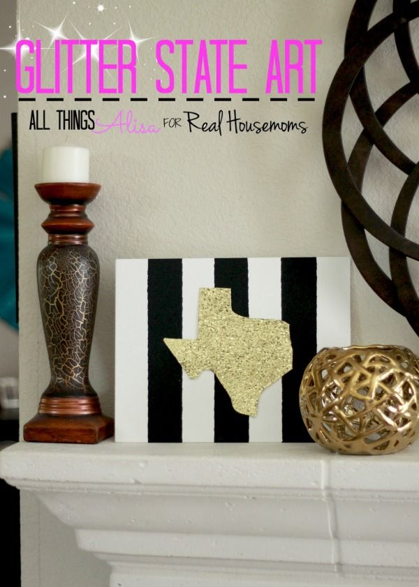 Glitter State Art | Real Housemoms
