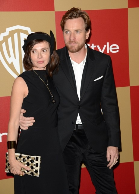Ewan McGregor and his wife at the 2013 Golden Globes